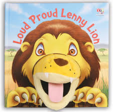 lion puppet loud proud lenny lion by kate thomson barry green waterstones