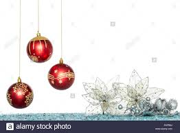 luxury christmas ball and flower hanging decoration isolated on