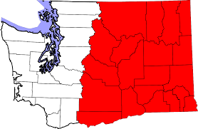 Washington State Map With Cities by Eastern Washington Wikipedia