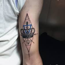 geometric tattoo 12250716 king queen tattoos tattooviral com