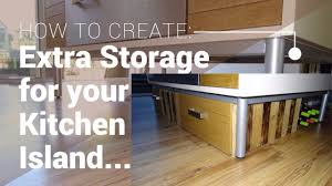 how to build a kitchen island with cabinets coming soon create extra storage for your kitchen island with