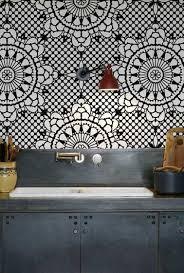 papier peint cuisine lavable credence cuisine en papier intéressant papier peint lessivable pour