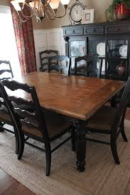 Dining Room Set by Paint Dining Room Set Black Leave Top As Wood And Glass