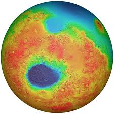 Mars Map Esa Science U0026 Technology Hellas Basin On Mars