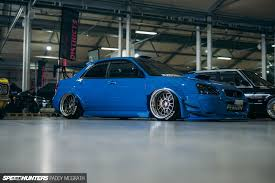 blue subaru gold rims an untypical subaru impreza sti speedhunters