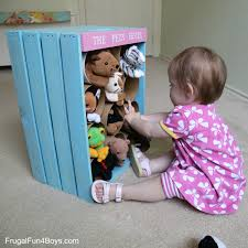 wooden crate toy storage