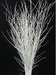 Branches With Lights 1 2m White Twigs With 80 Clear Rice Xmas Lights Amazon Co Uk