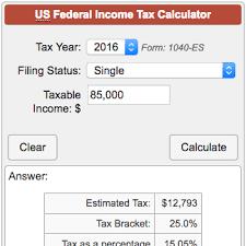 Estimate Income Tax 2015 by Income Tax Calculator