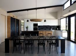 23 kitchens with chalkboard paint contemporary kitchen concrete floor black and white furniture pendant lamps modern chandelier chalkboard wall