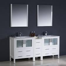 Fresca Bathroom Vanity by Shop Fresca Bari White Undermount Double Sink Bathroom Vanity With