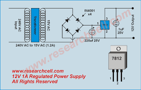 voltage regulator ic wiring diagram components