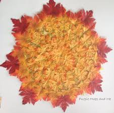 layered fall leaves placemat hometalk