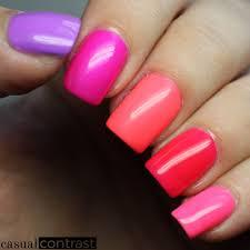 neon splatter nail art featuring salon perfect neon pop shades