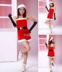 new christmas santa dress clothes women dresses red party