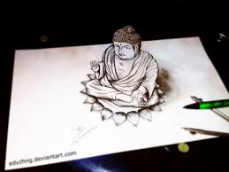 3d drawing buddha by edyzhng on deviantart
