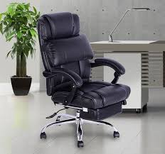 fauteuil de bureau inclinable homcom chaise de bureau luxe manager pivotant inclinable hauteur