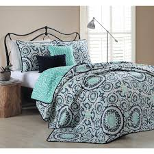 turquoise quilted coverlet dress your bed with this leona 5 piece quilt set available in a