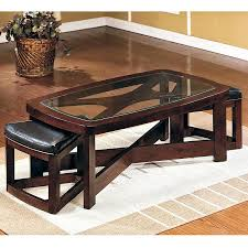 Coffee Table  Coffee Tablekenny Design Table Wooden With Stools - Kitchen table with stools underneath