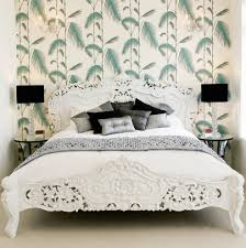 tropical wallpaper samples with hollywood regency bedroom