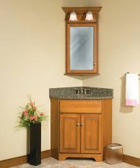 corner bathroom vanity giving unique effect for small bathroom
