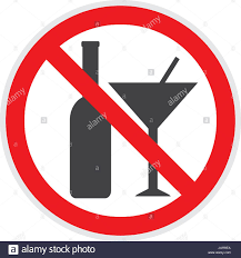 alcohol vector no alcohol sign in vector depicting banned activities stock vector