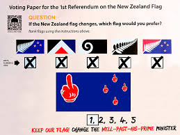 Nee Zealand Flag My Voting Paper For The New Zealand Flag Referendum