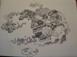 Avatar The Last Airbender Map Map Of The World Of Avatar In Fineliner By Glumbiemon24 On Deviantart