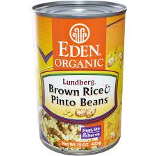 eden foods organic lundberg brown rice u0026 pinto beans 15 oz 425