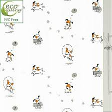 Pvc Free Shower Curtain Peva Pvc Free Kids Shower Curtain With Puppy Dog Design