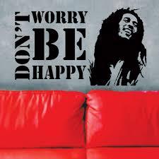 bob marley home decor aliexpress com buy free shipping vinyl wall decals don u0027t worry
