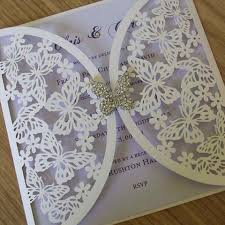 butterfly wedding invitations butterfly laser cut wedding invitations lilac pinteres