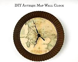 themed wall clock make a map themed wall clock morena s corner