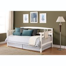 bedroom furniture white stained wooden single side day with