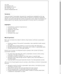 Sample Resume For Assembly Line Worker by Professional Workers Compensation Specialist Templates To Showcase