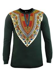 dashiki sweater thabo s print dashiki sleeve shirt green