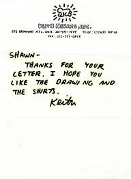 lot detail keith haring autograph letter signed on keith