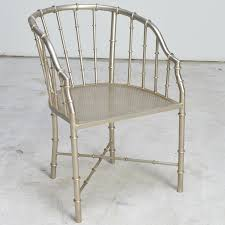 vintage bamboo style metal barrel chair ebth hastac 2011