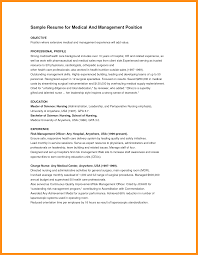 Medical Resume Objective Objective For Healthcare Resume Free Resume Example And Writing