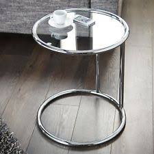 round chrome side table chrome round side end tables ebay