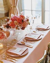 Gold Table Setting by Wedding Colors Pink And Gold Martha Stewart Weddings