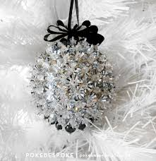 silver and black beaded and sequin ornament christmas