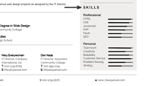 Types Of Skills To Put On A Resume Personalize A Modern Resume Template In Ms Word