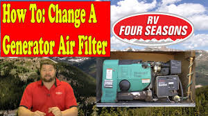 rv generator air filter change youtube