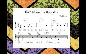the sweetest melody on her broomstick