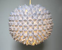 Paper Pendant Lighting Faceted Pendant Lights U2013 The Small Sphere The 3 R U0027s Blog