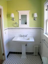 Pedestal Sink Bathroom Ideas Bathroom Entrancing Green Bathroom Decoration Using Lime Green