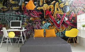 murals graffiti to size of wall myloview com go to the product graffiti mural wallpaper for teenagers