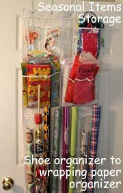 hanging gift wrap organizer hanging gift wrap storage gift wrap storage from an the door