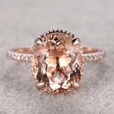morganite engagement ring gold 11x9mm 4 5ct oval cut morganite engagement ring 14k gold