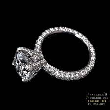 michael b engagement rings michael b jewelry three sided princess pave engagement ring